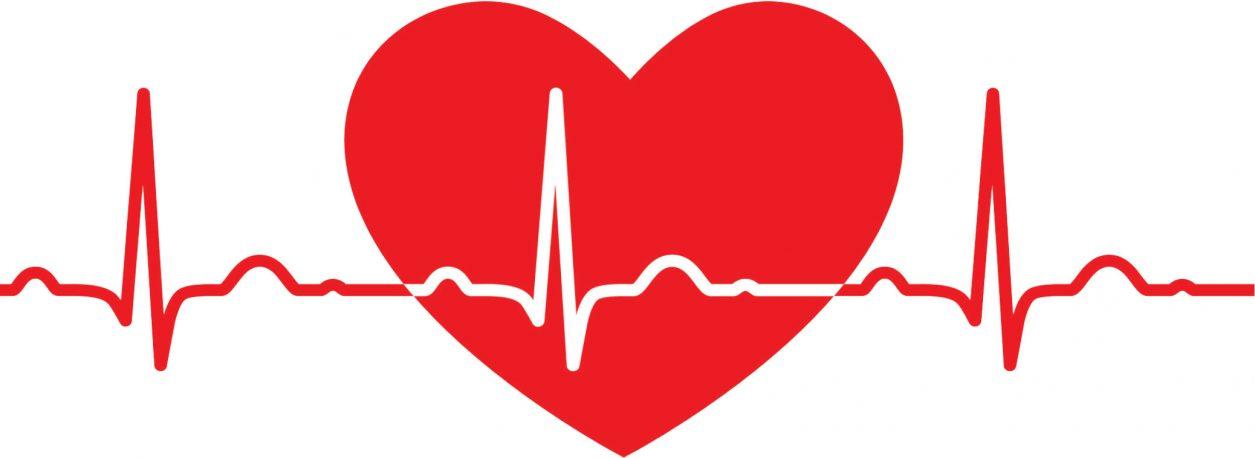 Heart with ekg line