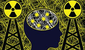 cell tower and brain waves