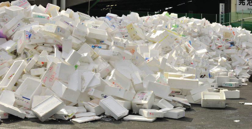 pile of styrofoam