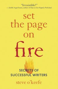 Set the Page on Fire Secrets of Successful Writers by Steve O'Keefe