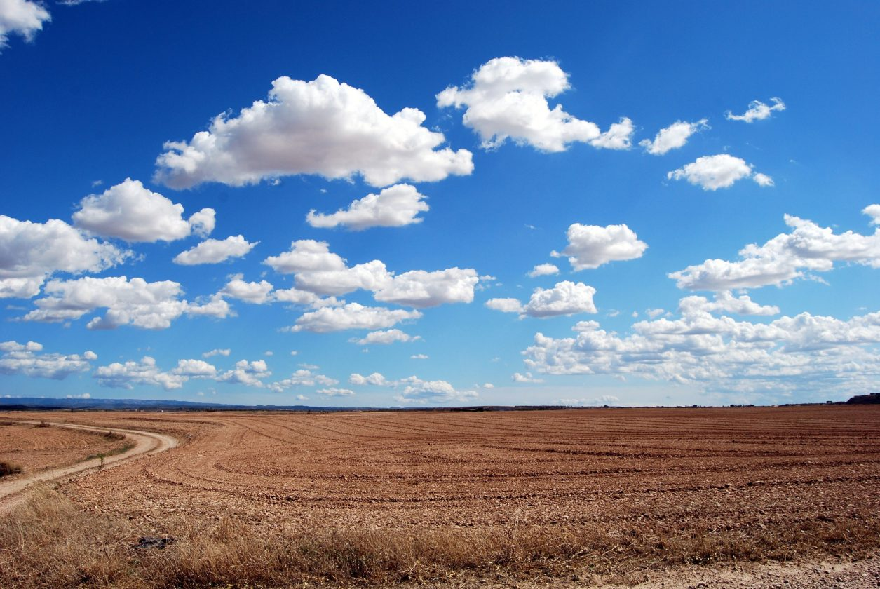 open space with clouds